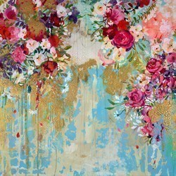 Radiant Flowers by Amylee Paris -  sized 39x39 inches. Available from Whitewall Galleries